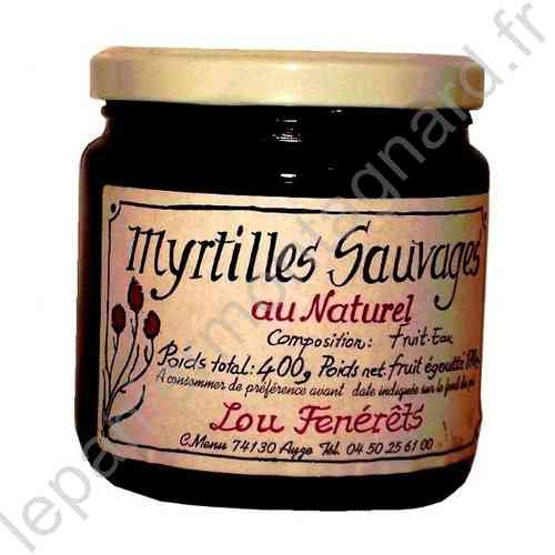 Myrtilles au Naturel 400 gr