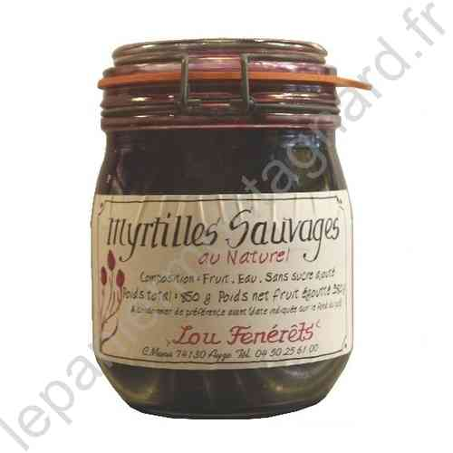 Myrtilles au naturel 850 gr